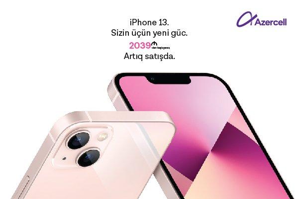 50GB mobil internet hədiyyəli ən yeni model iPhone 13 smartfonları artıq Azercell Eksklüziv mağazalarında!