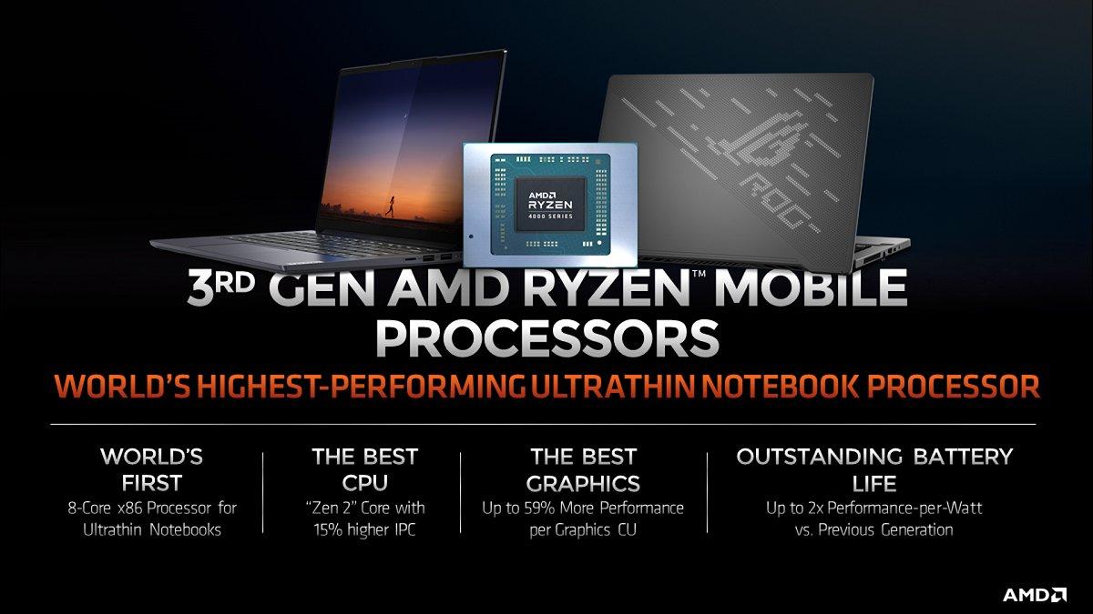 AMD rəsmisi təsdiqlədi: Ryzen 4000 prosessorlu yeni noutbuklar gəlir