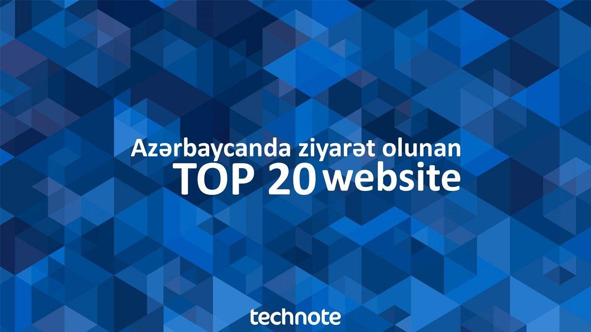 Azərbaycanda ən çox ziyarət edilən saytlar 2019 - TOP 20