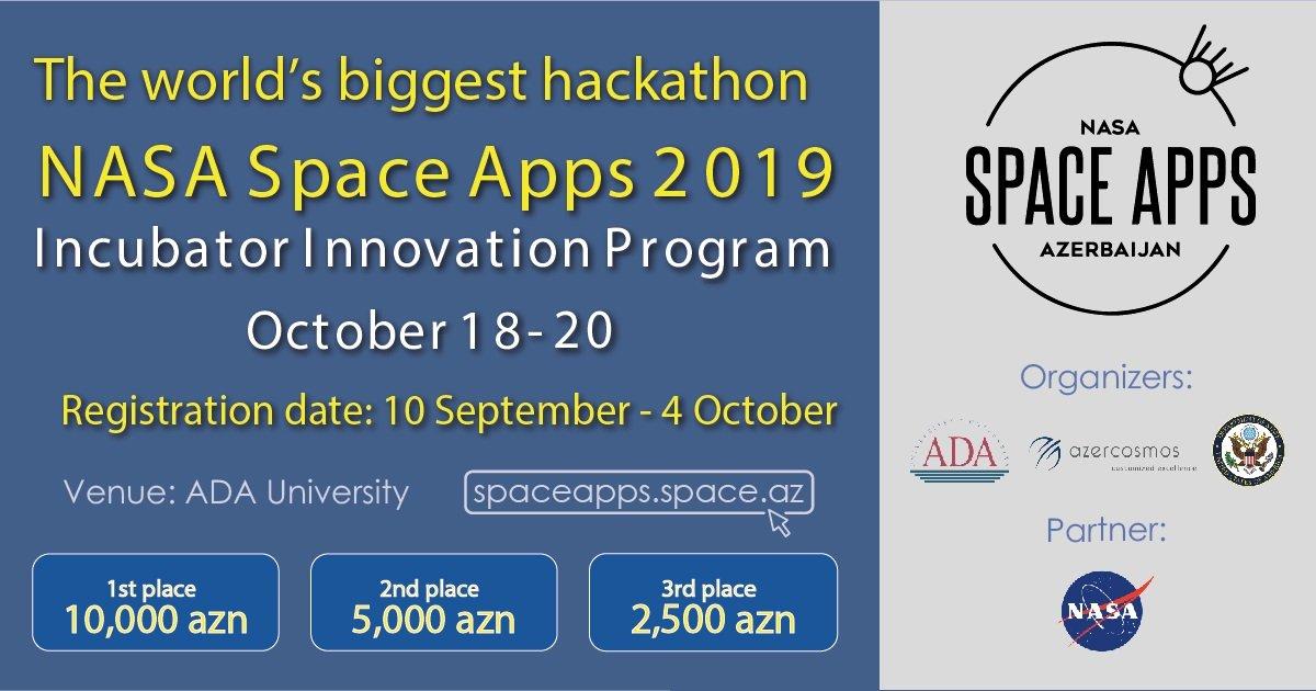 Azərbaycanda ilk dəfə dünyanın ən böyük hackathonu - 'NASA Space Apps Challenge' keçiriləcək