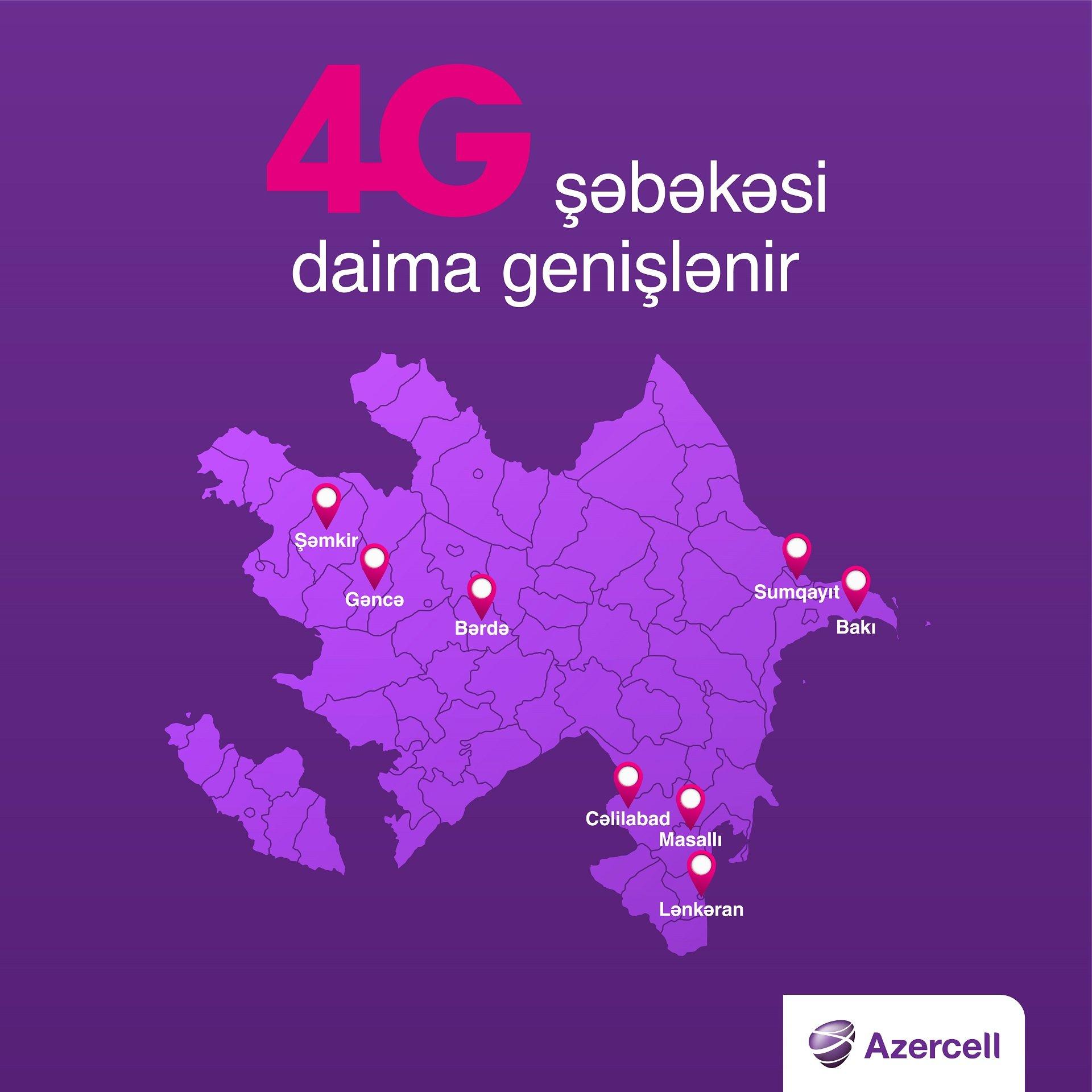 Azercell-dən 4G indi Masallı və Cəlilabad sakinləri üçün