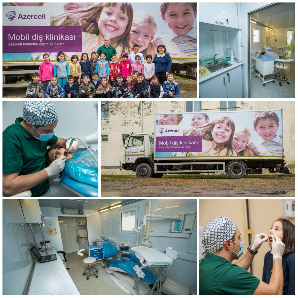 Azercell-in Mobil Diş Klinikası pulsuz xidməti davam etdirir