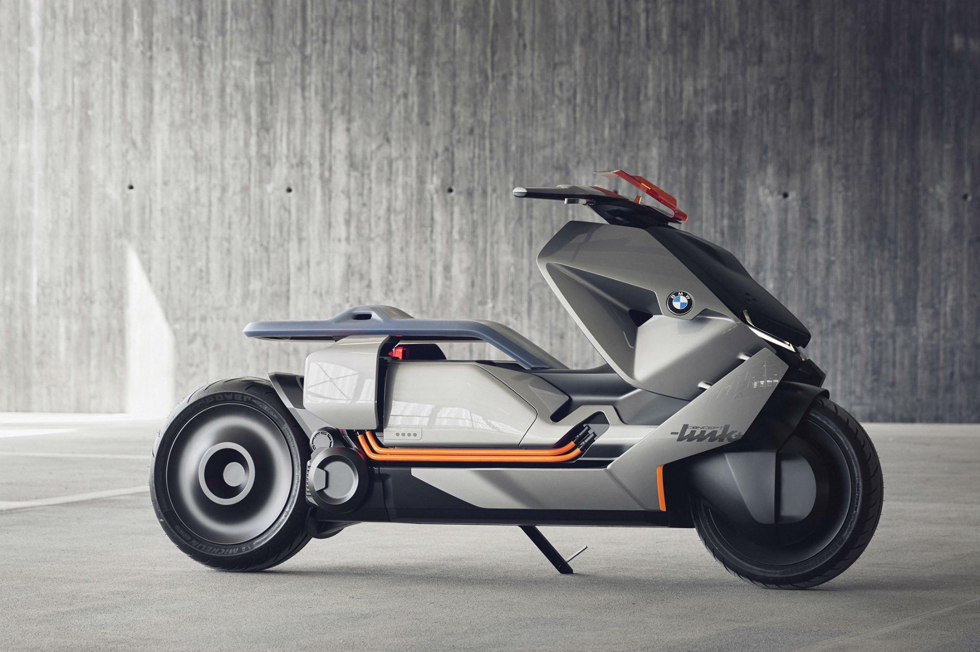 BMW şirkəti, Concept Link adlı gələcəyin elektroskuterini təqdim edib (VİDEO)