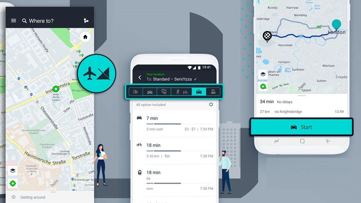 Huawei şirkəti AppGallery-də Google Maps-in alternativi olan HERE WeGo servisini işə saldı