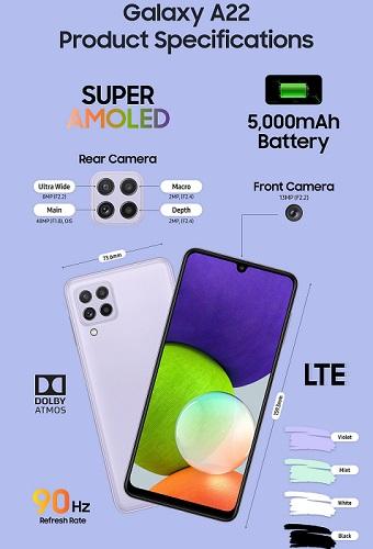 Samsung yeni orta büdcəli Galaxy A22 və A22 5G smartfonlarını təqdim edib - QİYMƏTİ