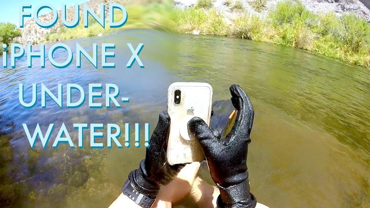 iPhone X gölün dərinliyində keçirilmiş 2 həftədən sonra sağ qalıb (VİDEO)