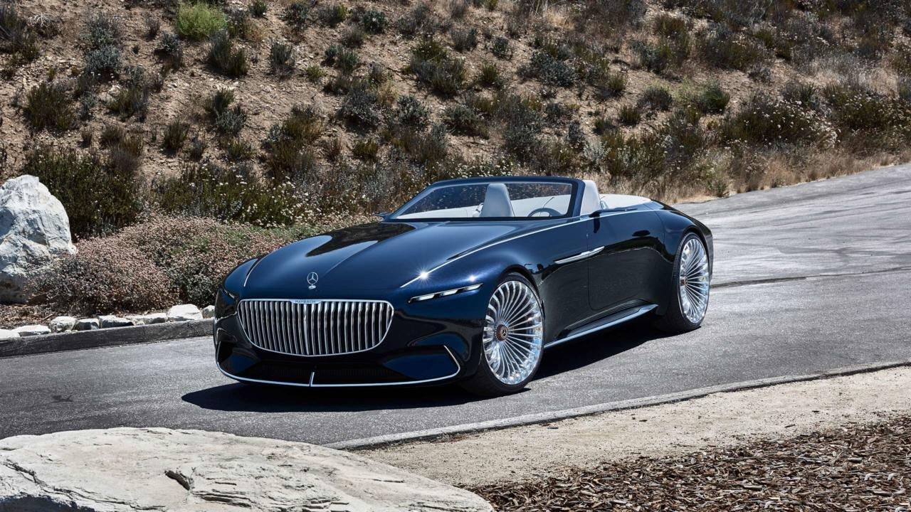 'Mercedes-Benz', mükəmməl dizayna sahib Mecedes-Maybach 6 Cabriolet adlı lüks elektrik avtomobilini təqdim etdi (VİDEO)