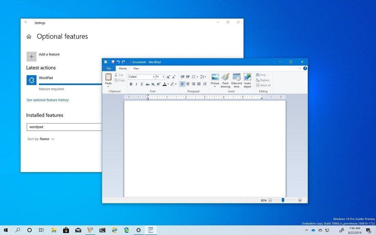 Microsoft-dan qəribə addım: Daxili WordPad proqramında reklam göstəriləcək