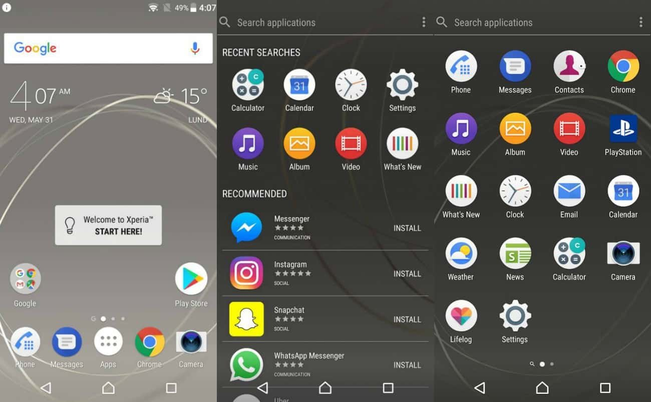 sony xperia home, xperia home launcher, xperia interface, xperia home bitdi, sony deyisiklik, sony launcher