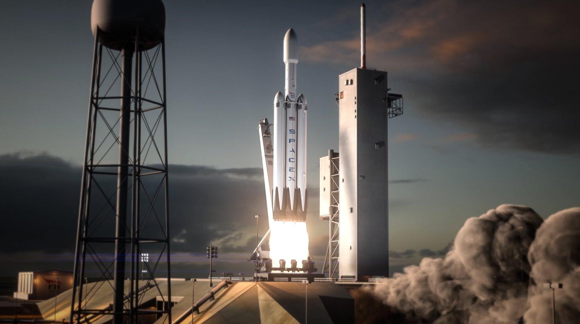 'SpaceX'in Falcon Heavy raketi uçuş startına hazırdır (VİDEO)