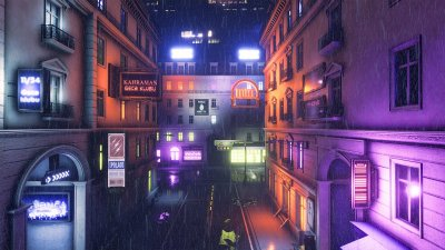 azdimension, rainy neon baku