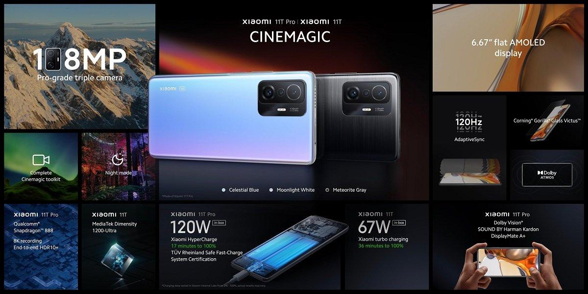 Xiaomi 11T, 11T Pro və 11 Lite 5G NE smartfonları təqdim olunub - QİYMƏTİ