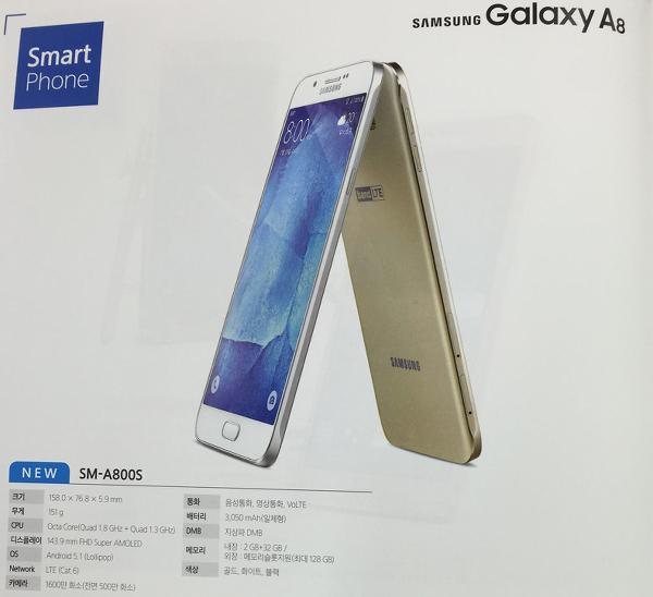 Samsung Galaxy A8-in texniki parametrləri paylaşılıb.