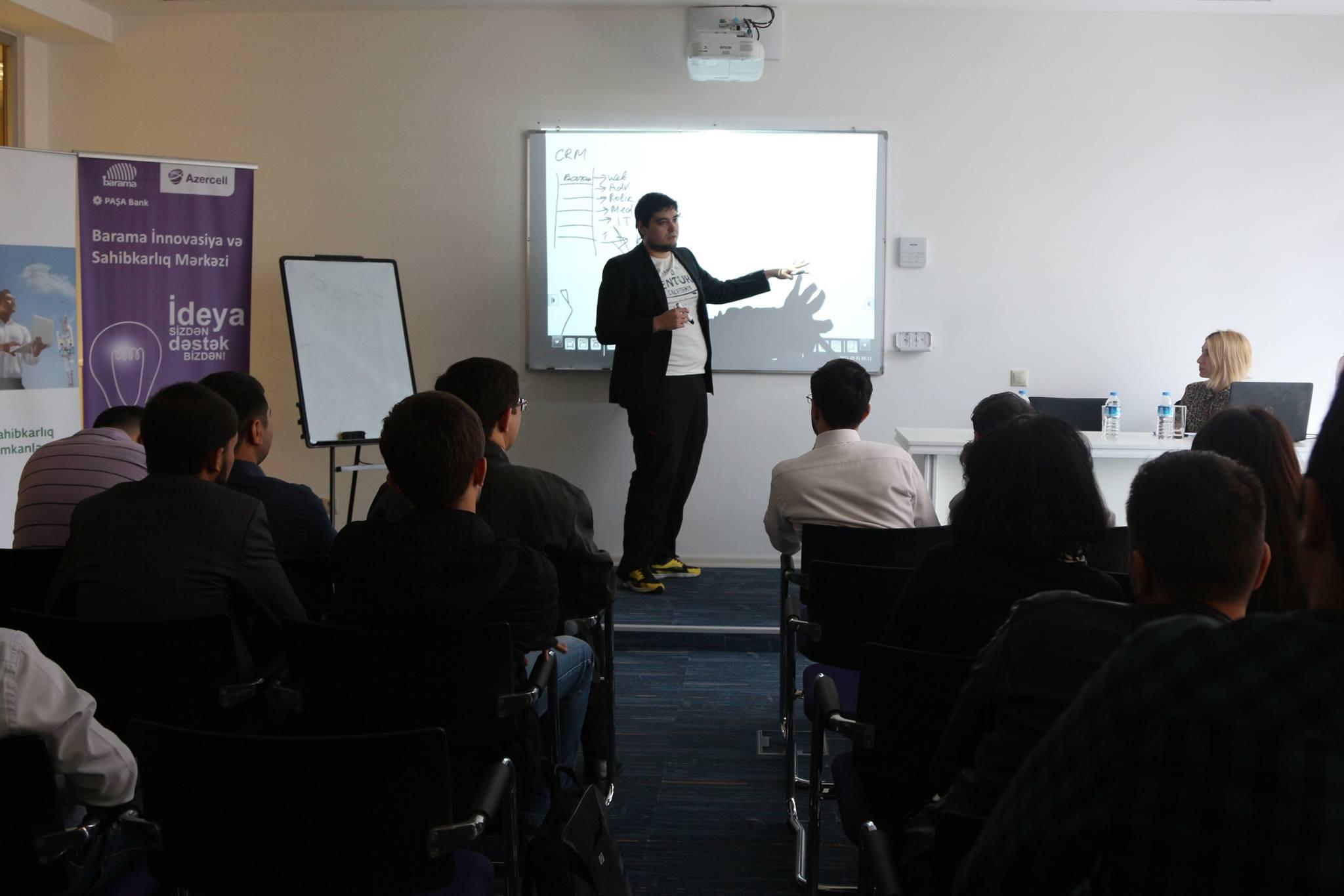 """""""Barama"""" innovasiya və sahibkarlıq mərkəzində """"Marketing Strategy and Business Development"""" seminarı"""