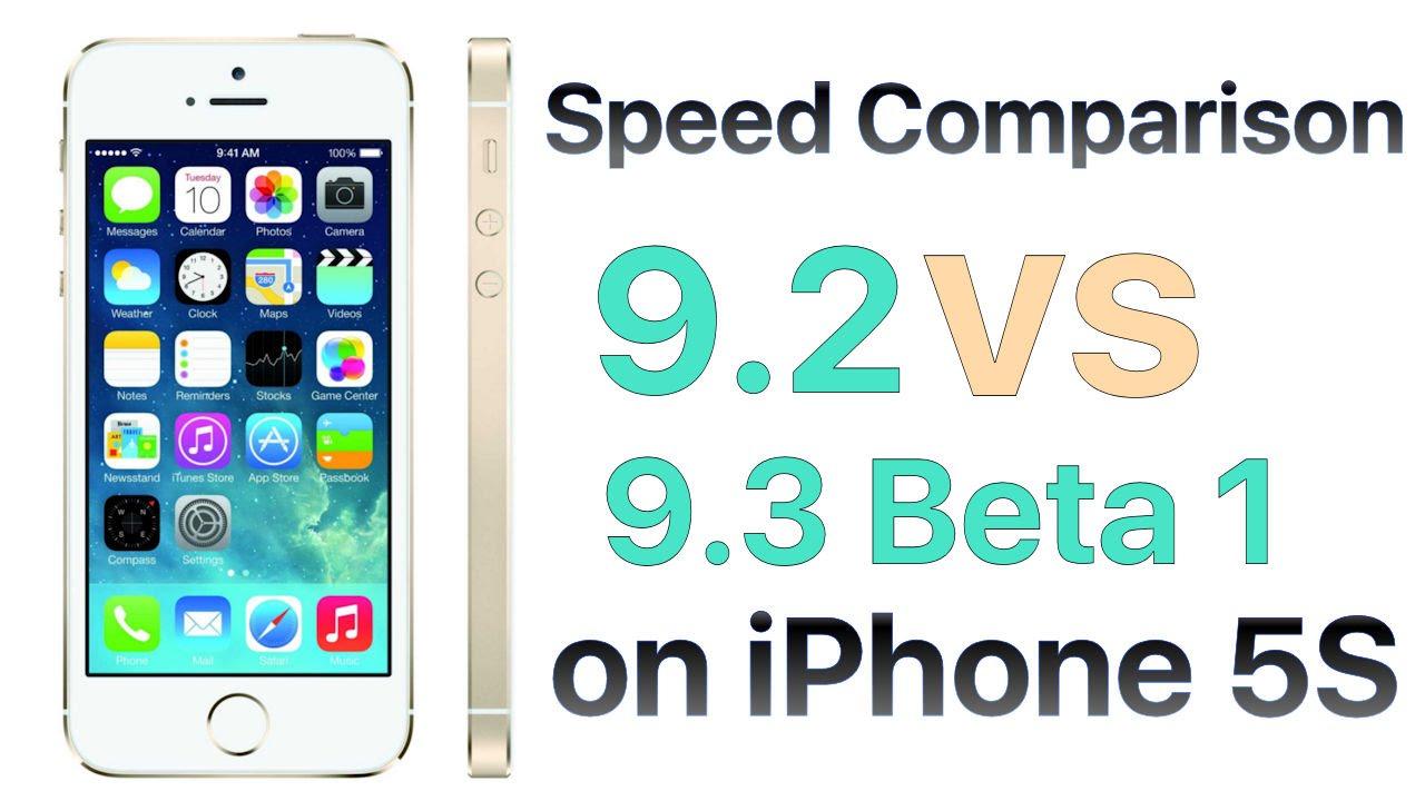 iOS 9.3 beta və iOS 9.2 sürət testi. (VİDEO)