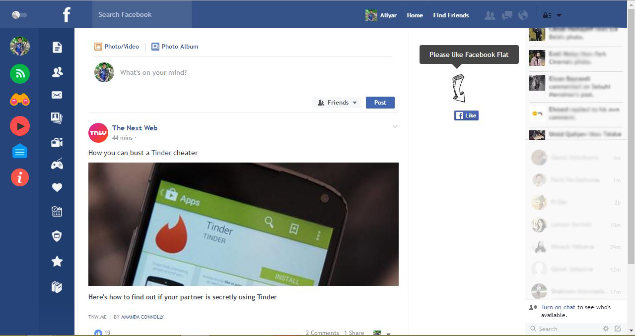 Facebook`un dizaynını necə dəyişmək olar?