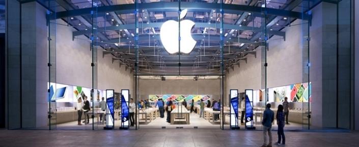 Apple işçisi kimi geyinib, Apple Store\'a girən oğrular mağazanı soydular
