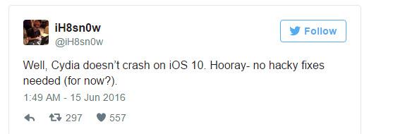 iOS 10 üçün gözlənilmədən gələn Jailbreak!