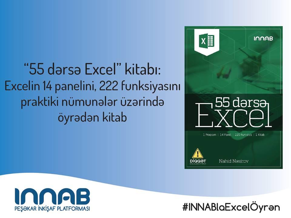 MS Excel proqramına dair Azərbaycan dilində kitab işıq üzü görüb