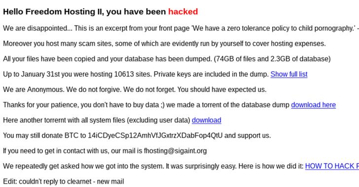 Anonymous hacker qruplaşması Deep Web-ə böyük zərbə endirdi