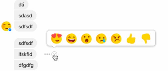 Facebook emojiləri və dislike düyməsi ilə reaksiya bildirmək funksiyası, Messenger-ə gəlir
