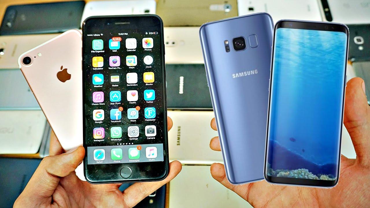 Galaxy S8+, iPhone 7 Plus-a qarşı. Batareyalardakı enerji sərfiyyatı testi