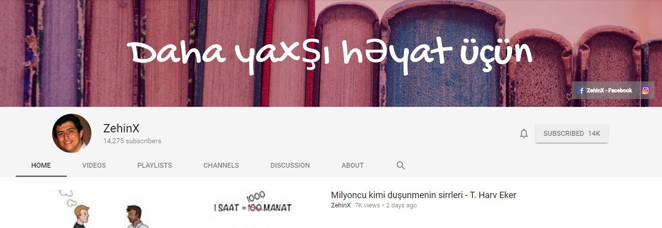 Yerli Youtube mədəniyyətini kökündən dəyişəcək kanal - ZehinX