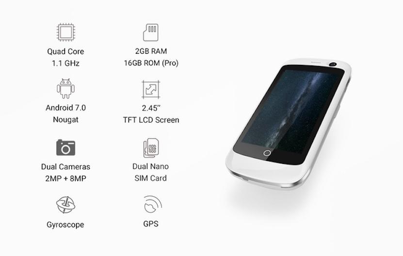 Orta texniki göstəricilərə sahib dünyanın ən balaca 4G smartfonu Jelly